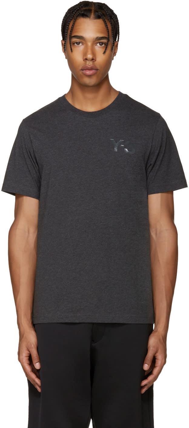 Y-3 Grey Logo T-shirt