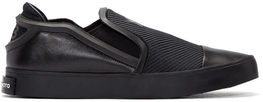 Y-3 Black Layer Slip-on Sneakers
