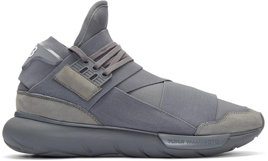 Y-3 Grey Qasa High Sneakers