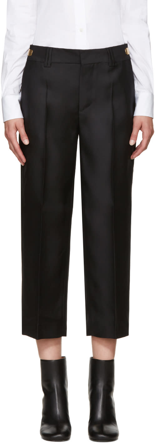 Dsquared2 Black Wool and Silk Maria Trousers