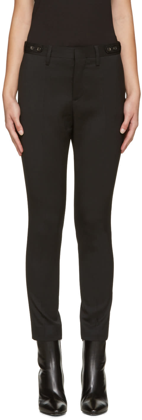 Dsquared2 Black Wool Londean Trousers