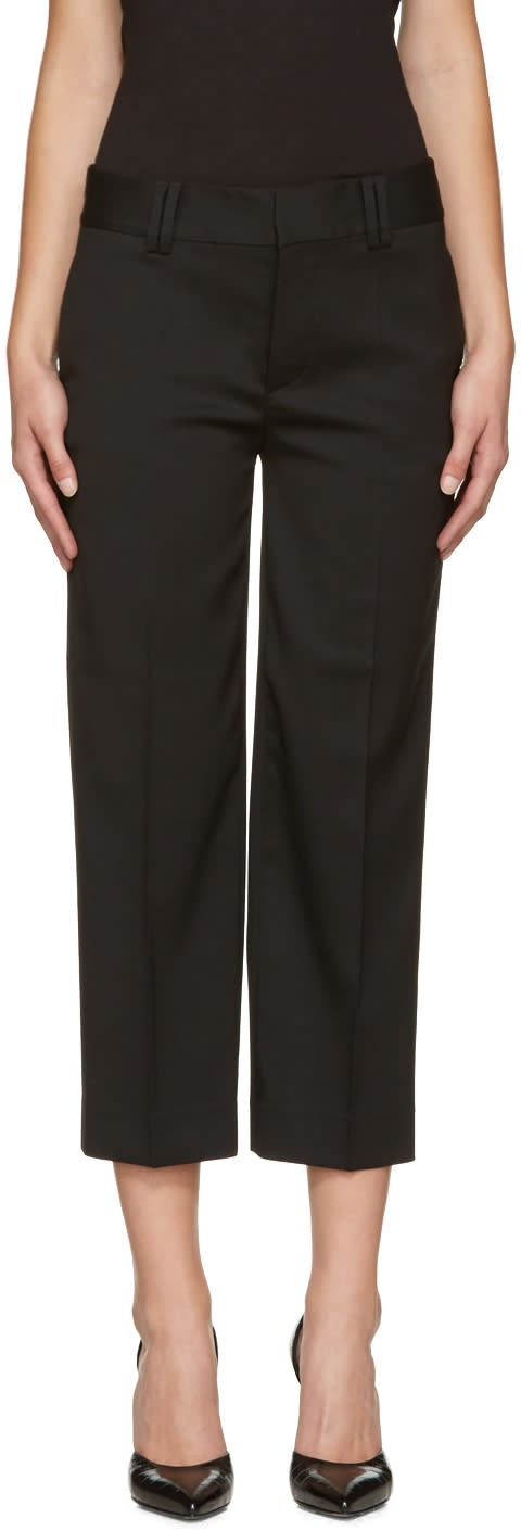 Dsquared2 Black Wool Mariacarla Trousers