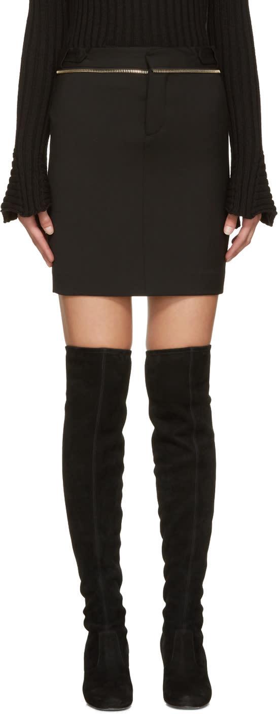Dsquared2 Black Zippered Miyako Miniskirt
