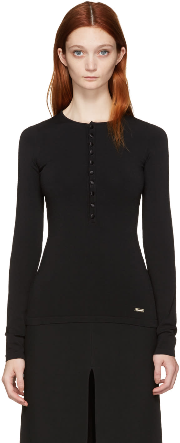 Dsquared2 Black Military Henley