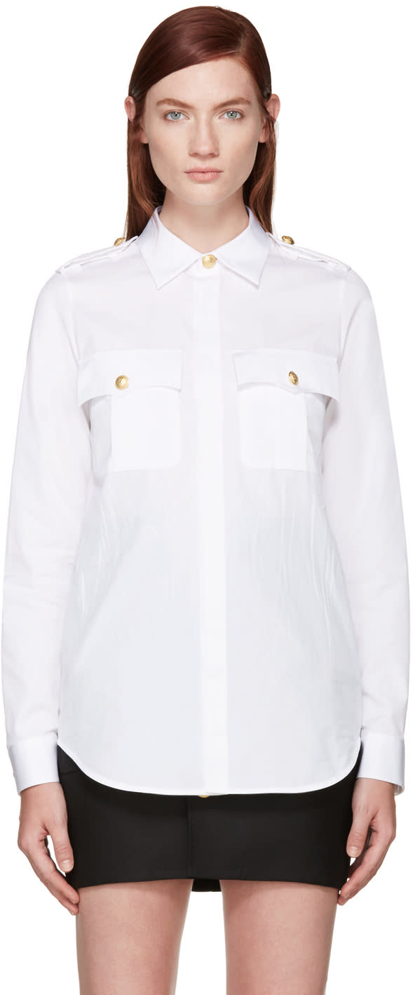 Dsquared2 White Sergeant Shirt