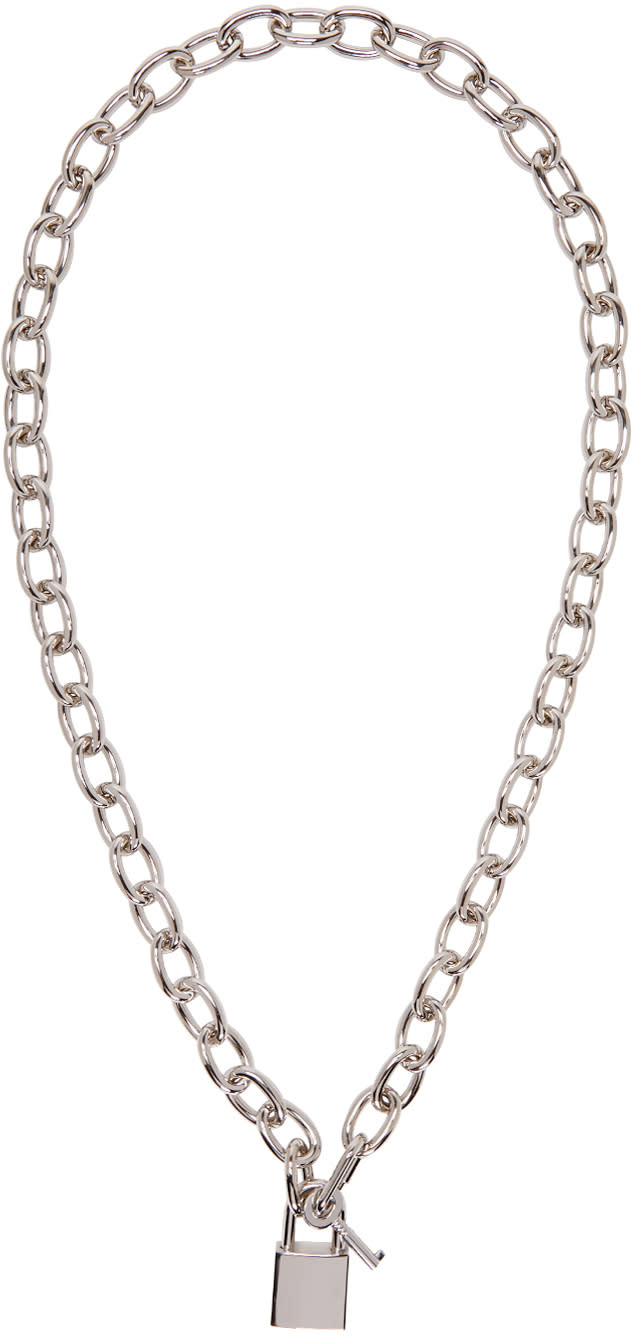 Dsquared2 Silver Lock Chain Necklace