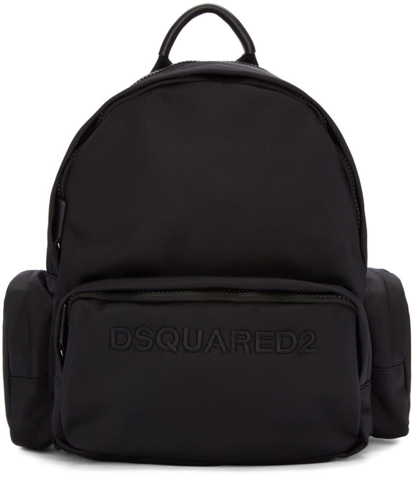 Dsquared2 ブラック ロゴ バックパック