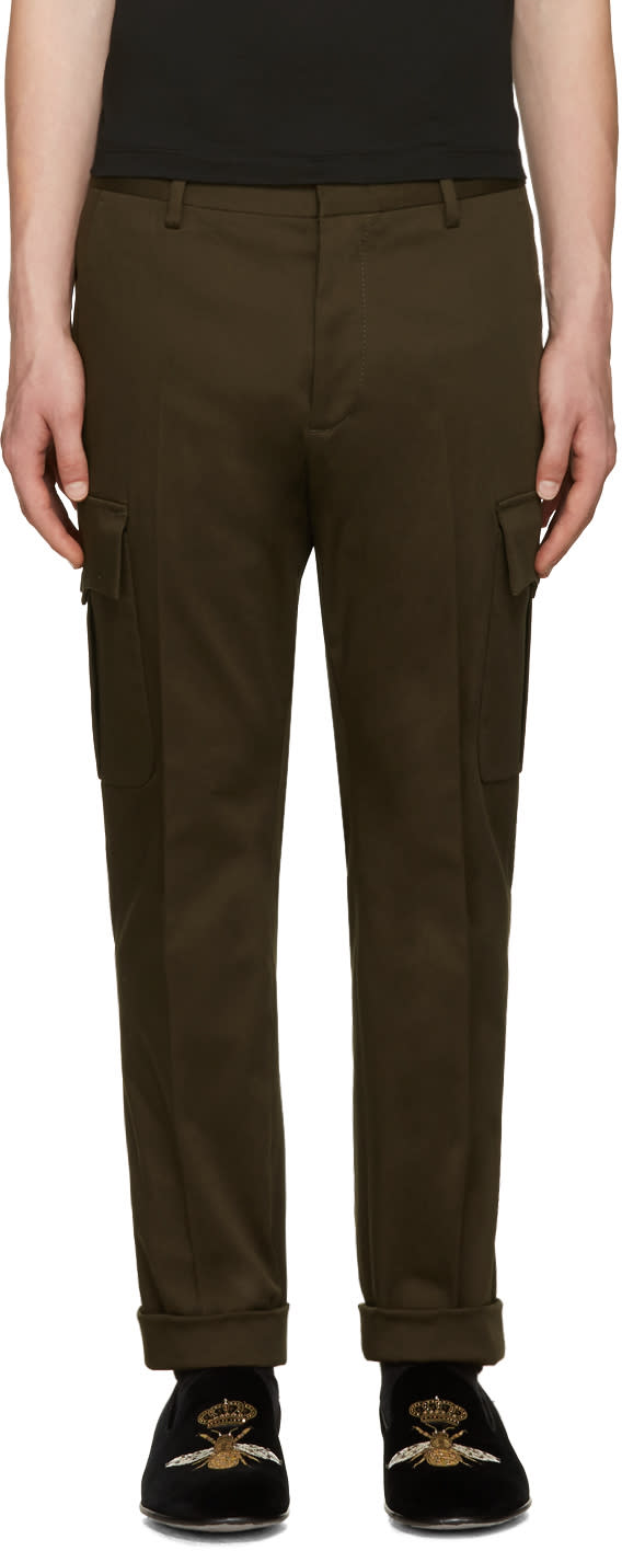 Dsquared2 Green Admiral Cargo Pants