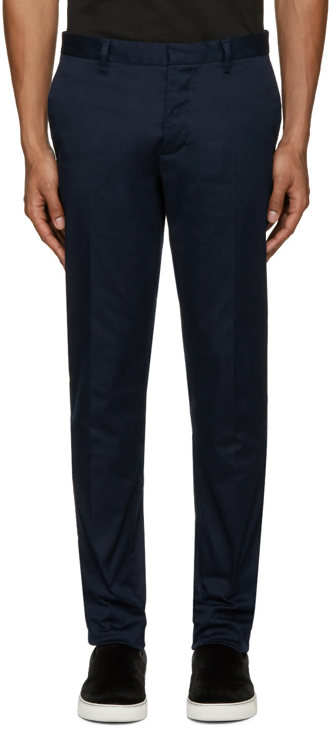 Dsquared2 Navy Twill Tokyo Trousers