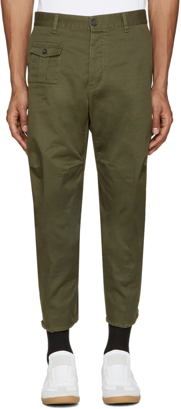 Dsquared2 Green Tizzy Trousers