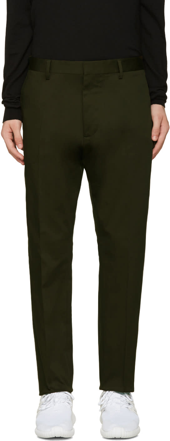 Dsquared2 Green Cotton Hockney Trousers