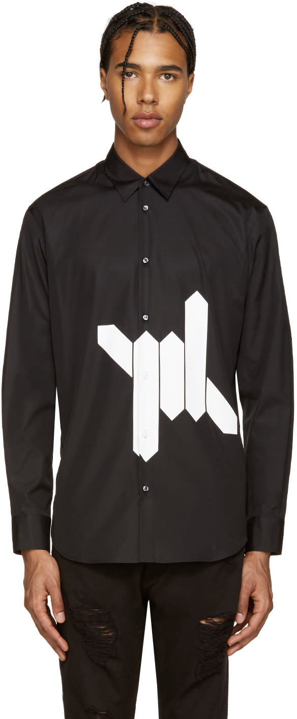Dsquared2 Black Babewire Relax Dan Shirt