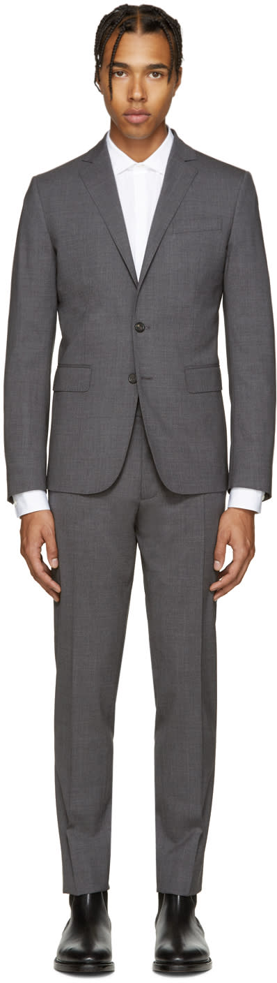 Dsquared2 Grey Wool Paris Suit
