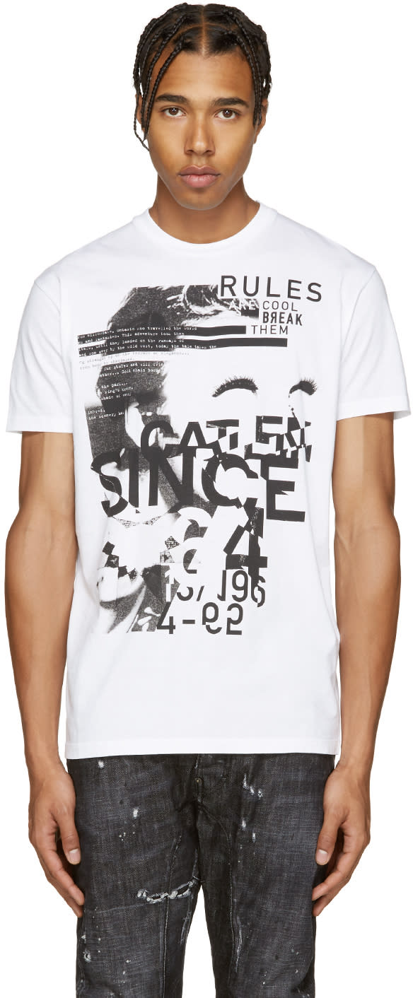 Dsquared2 White Rules T-shirt