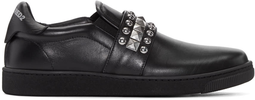 Dsquared2 Black Studded Slip-on Sneakers