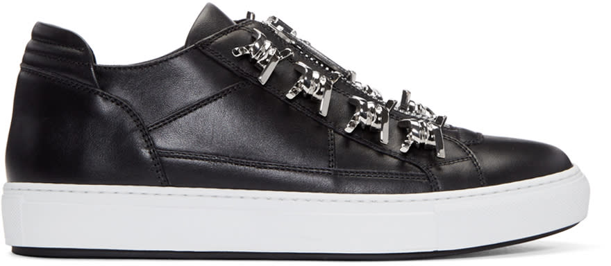 Dsquared2 Black Leather Asylum Sneakers
