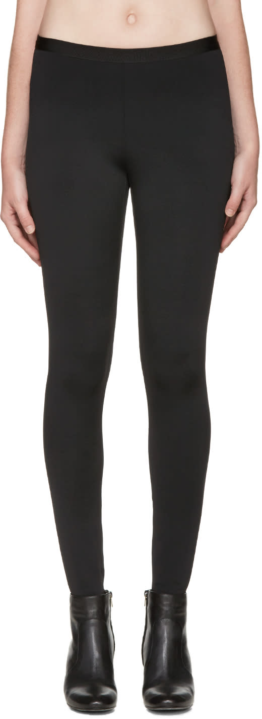 Helmut Lang Black Neoprene Technical Leggings