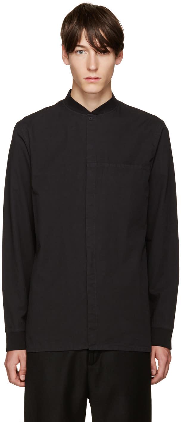 Helmut Lang Black Bomber Shirt