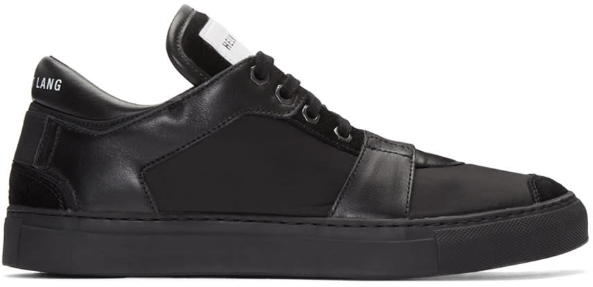 Helmut Lang Black Nylon Heritage Sneakers