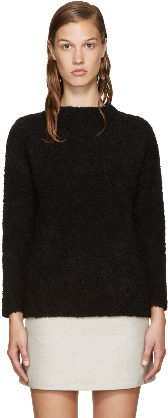 Ymc Black Smock Teddy Sweater