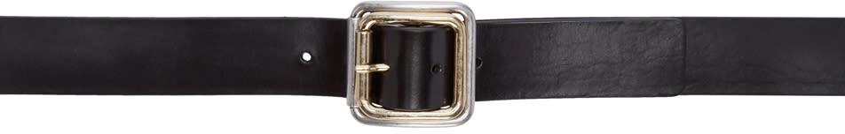 Maison Margiela Black Calfskin Belt