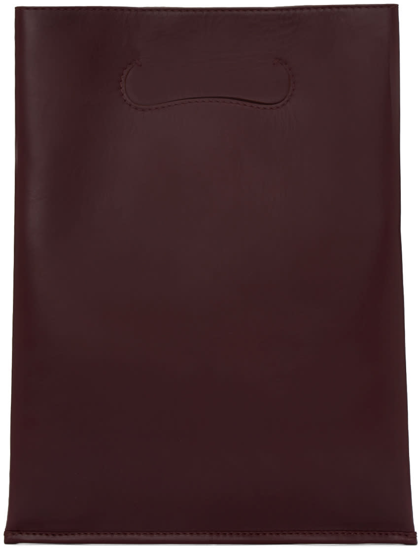 Maison Margiela Burgundy Small Shopper Tote Bag