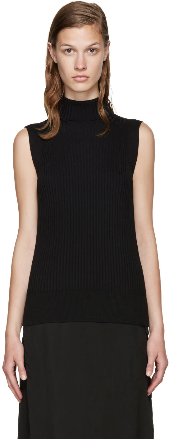 Maison Margiela Black Sleeveless Turtleneck