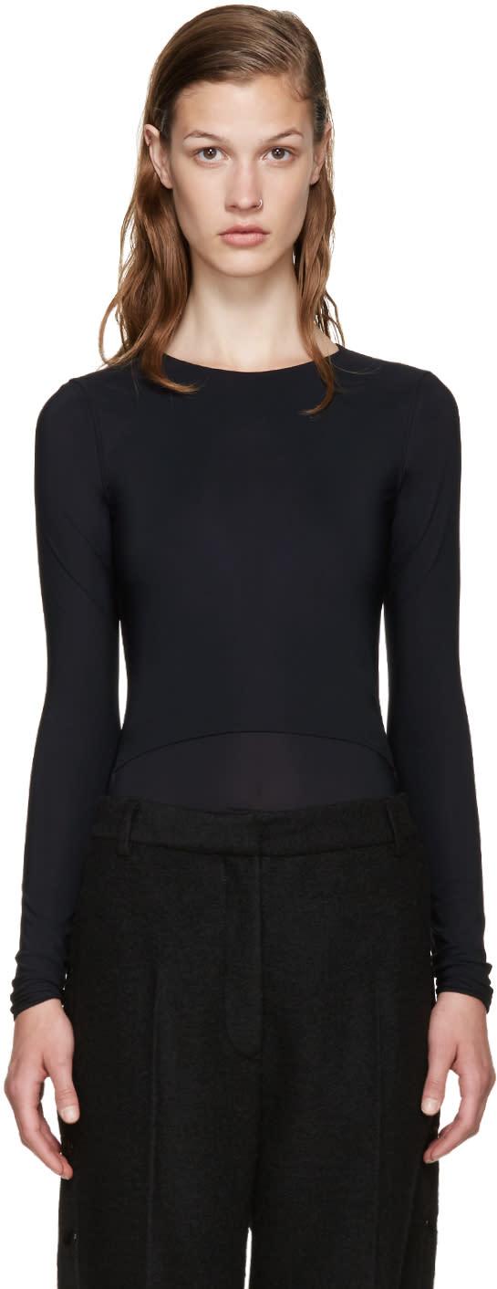 Maison Margiela Black Layered Bodysuit