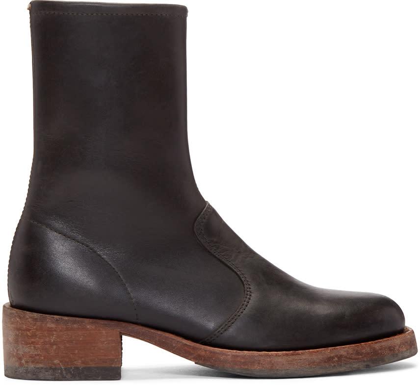 Maison Margiela Black Vintage Trunk Boots