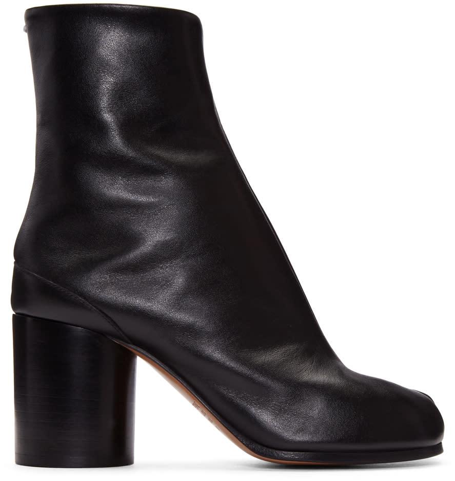Maison-Margiela-Black-Leather-Tabi-Boots