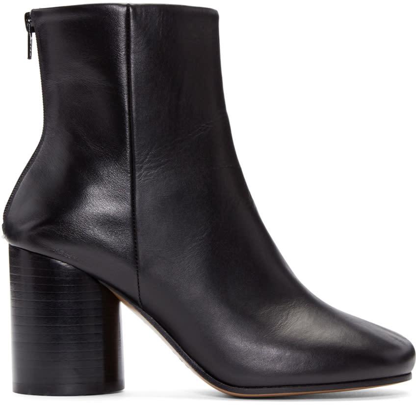 Maison Margiela Black Leather Sock Boots