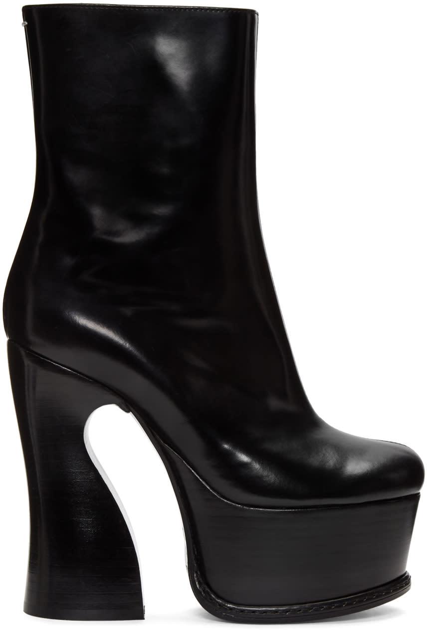 Maison Margiela Black Heeled Ankle Boots