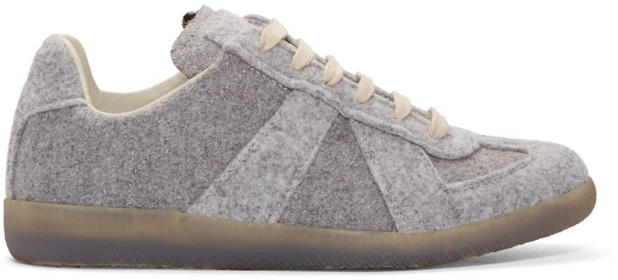 Maison Margiela Grey Felt Replica Sneakers