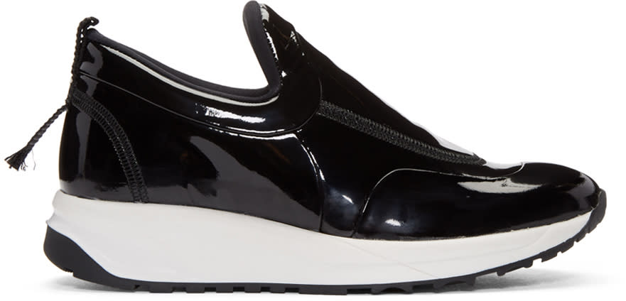 Maison Margiela Black Patent Leather Sneakers