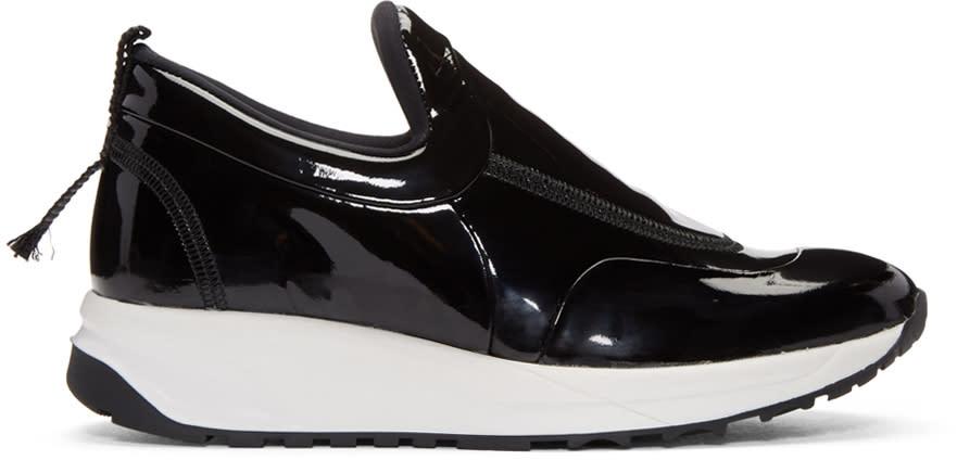 Maison Margiela Black Patent Leather Sneakers