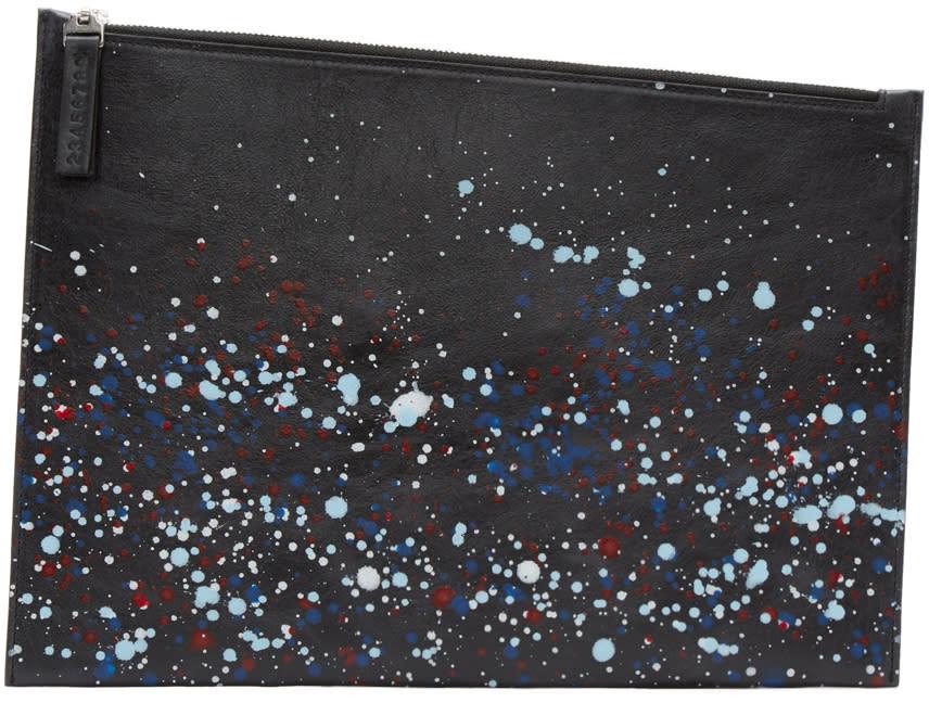 Maison Margiela Black Paint Splatter Document Holder
