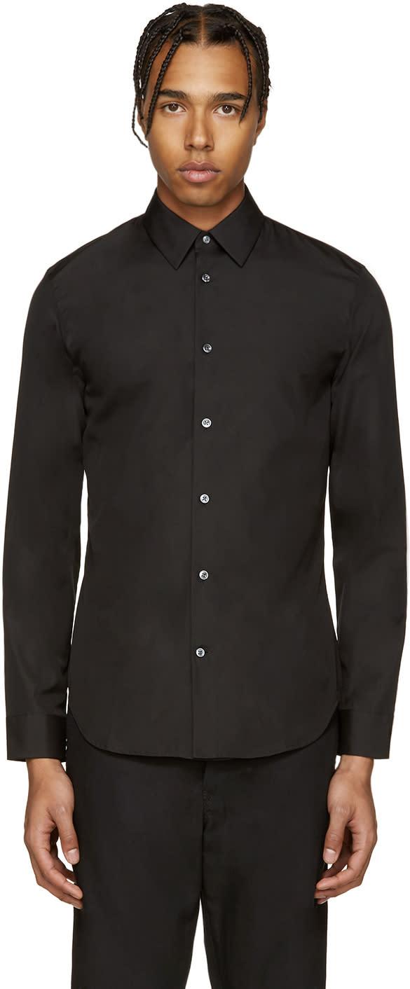 ブラック スリム シャツ
