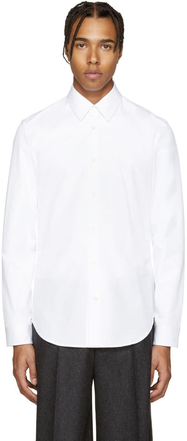 ホワイト スリム シャツ