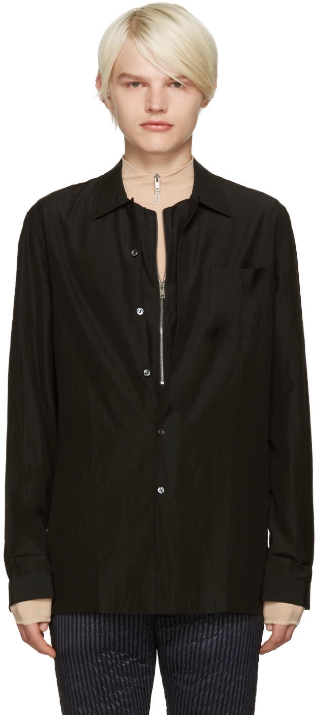 ブラック レイヤード シャツ