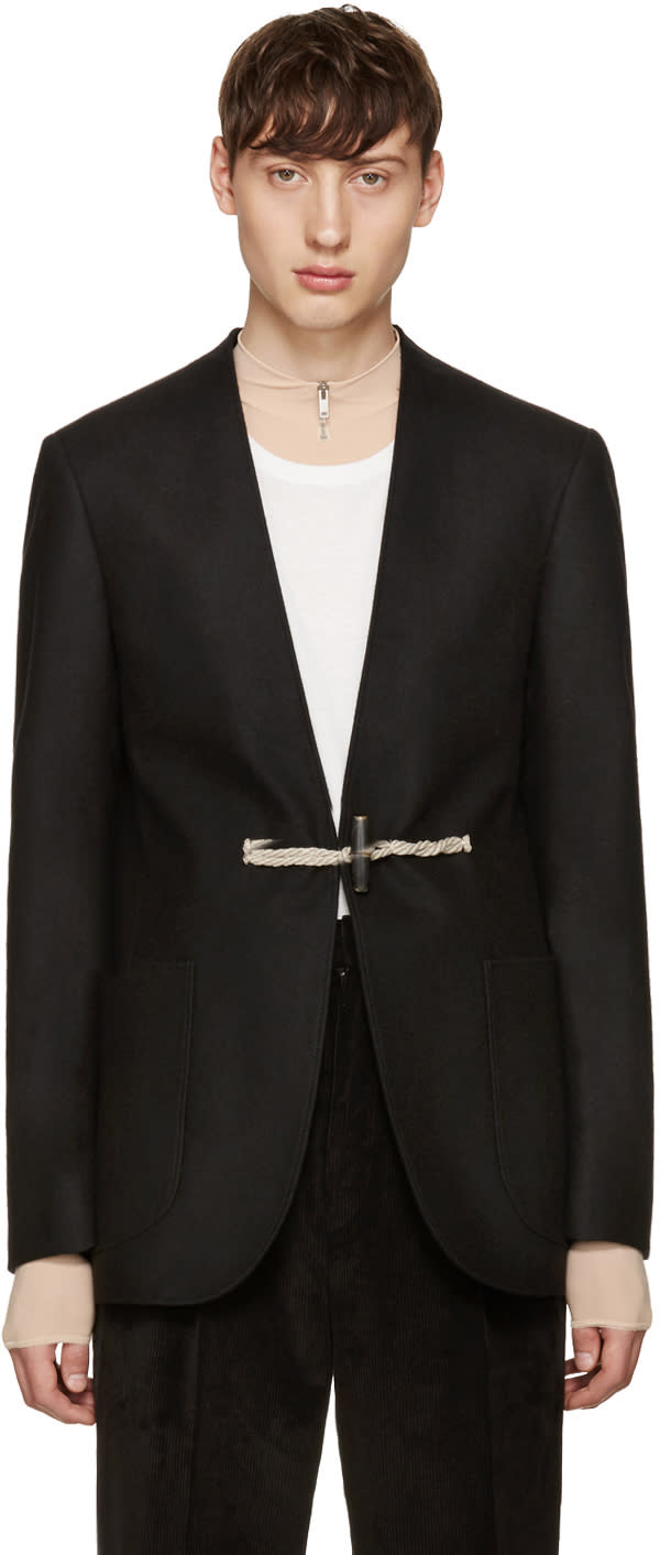 Maison Margiela Black Wool Toga Blazer