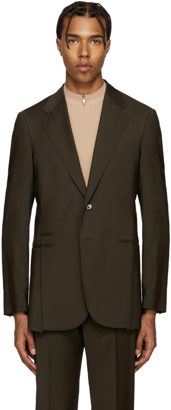 Maison Margiela Green Wool Split Blazer