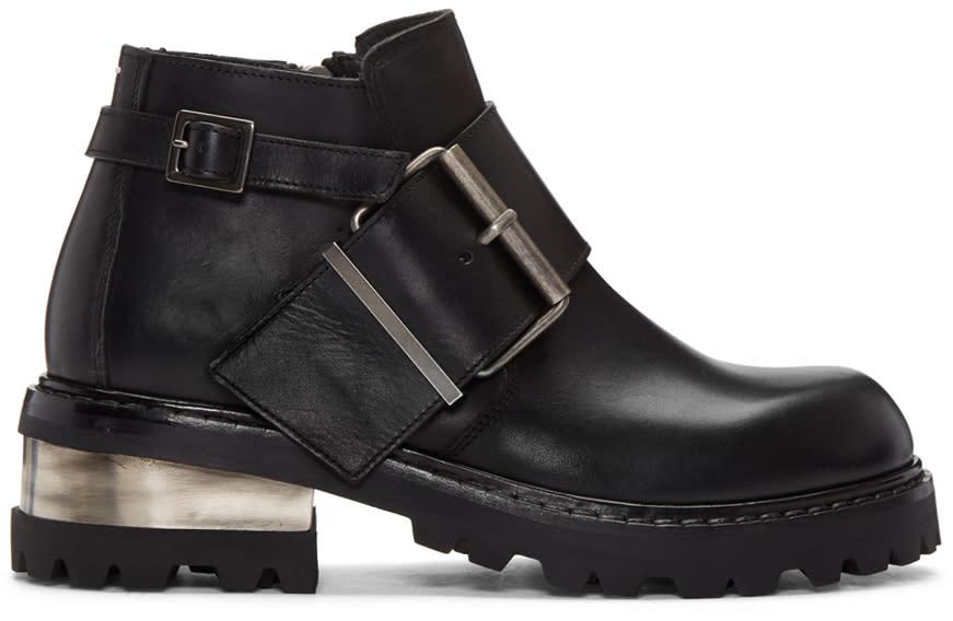 ブラック ビッグ バックル ブーツ