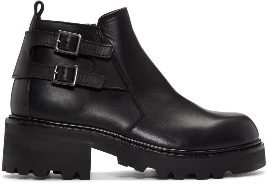 ブラック ショート ジップ ブーツ