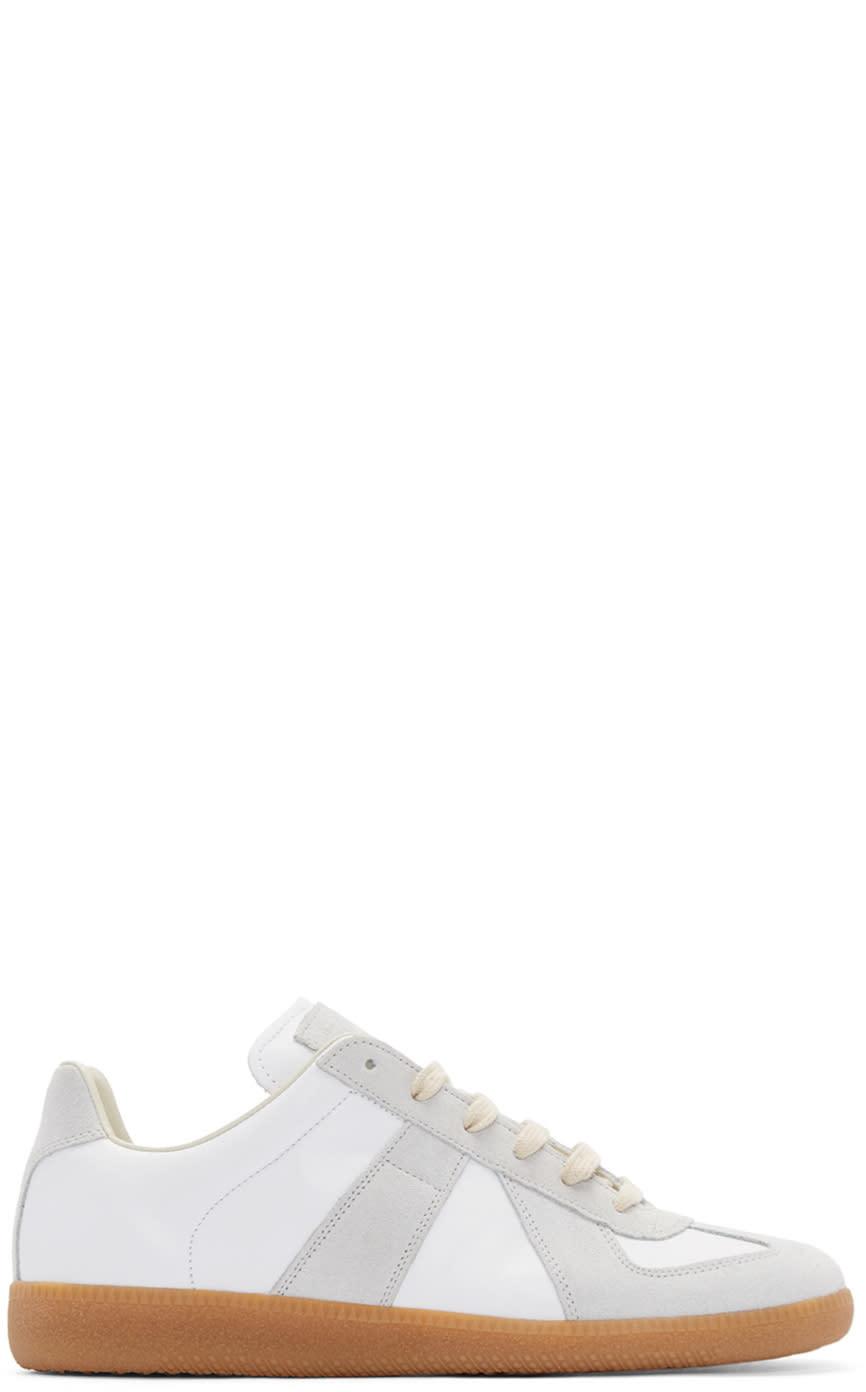 Maison Margiela White and Grey Replica Sneakers