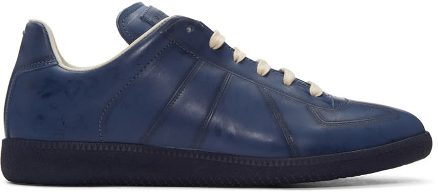 Maison Margiela Navy High Frequency Replica Sneakers