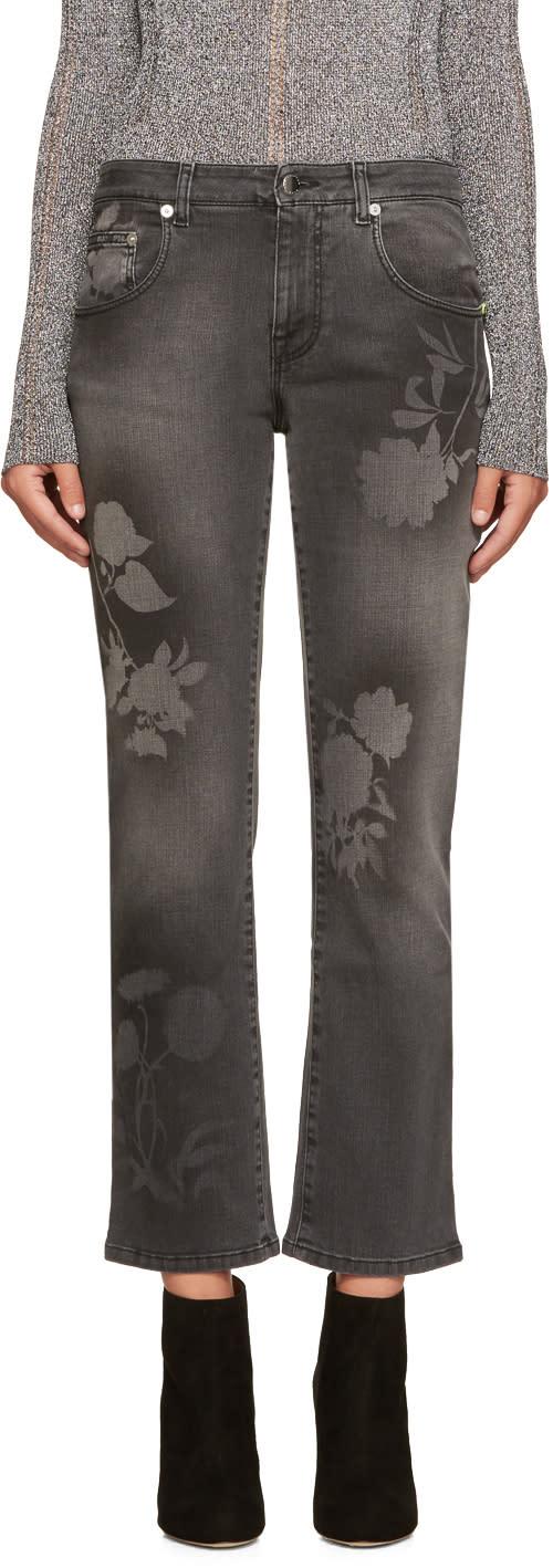 Christopher Kane Grey Spray Paint Jeans
