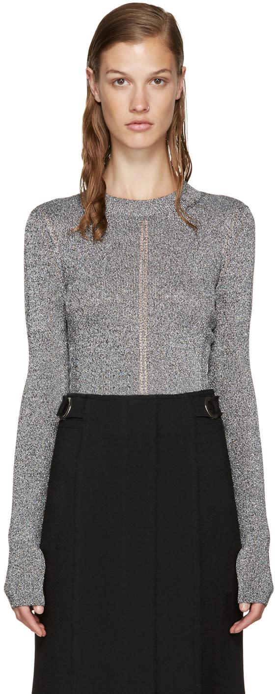 Christopher Kane Silver Metallic Sweater