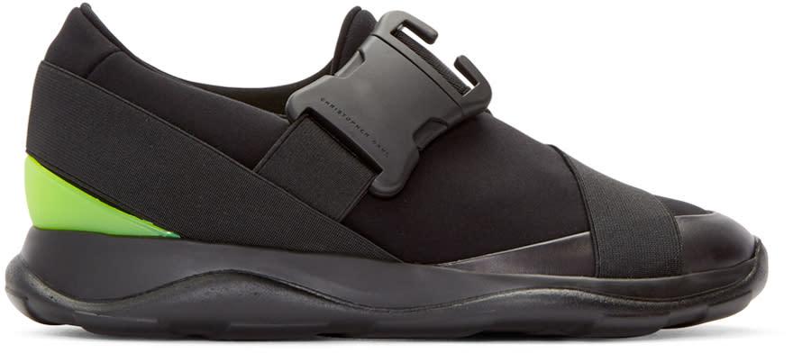 Christopher Kane Black Neon Spoiler Sneakers