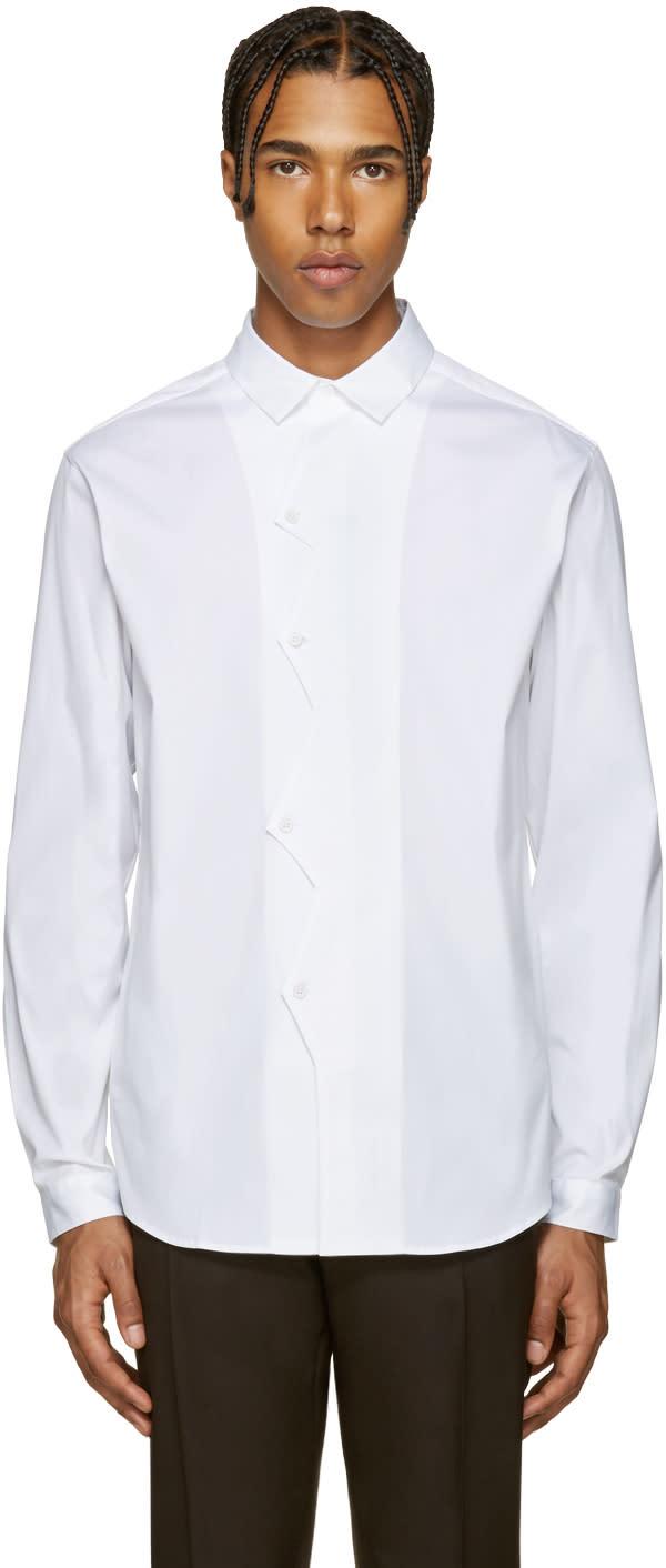 Christopher Kane White Poplin Zigzag Shirt