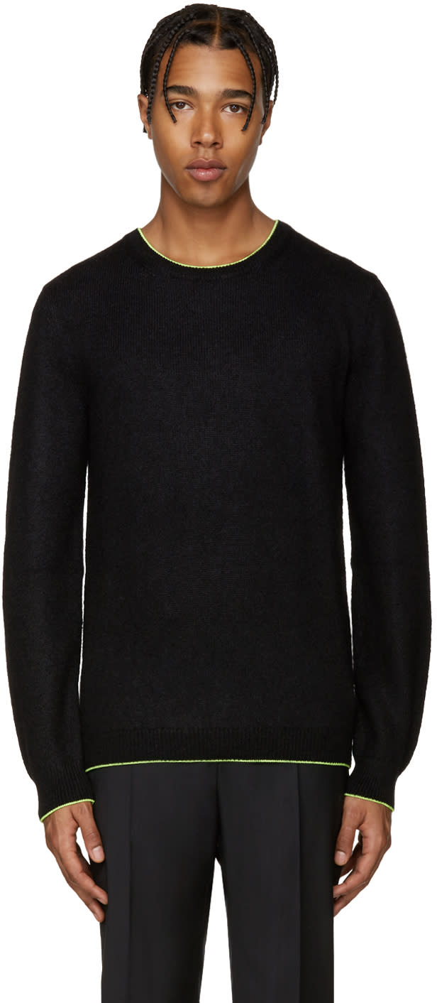 Christopher Kane Black Fluorescent Trim Sweater